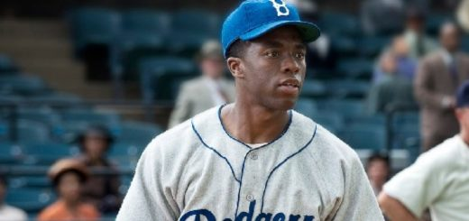42 Chadwick Boseman as Jackie Robinson movie
