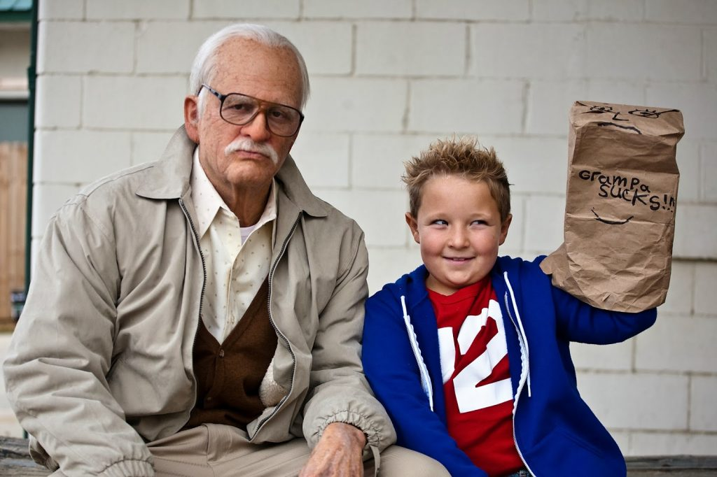 Bad Grandpa Johnny Knoxville movie Jackass comedy 2013