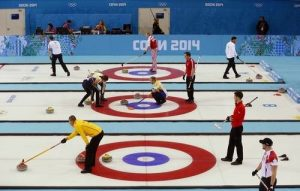 Curling Ring Sochi Winter Olympics