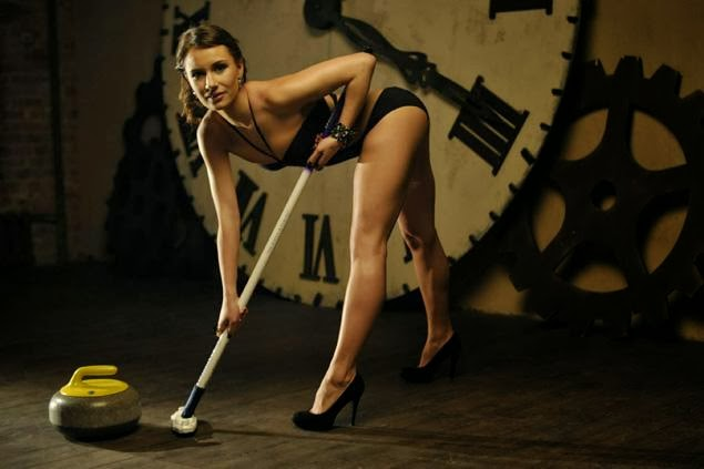 Curling Russian Anna Sidorova sexy