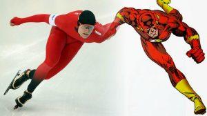 Flash Superhero costume Speed Skater design