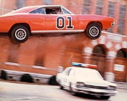 General Lee Dukes Hazzard car jump