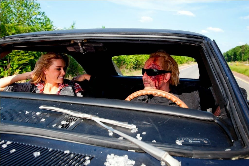 Nicolas Cage and Amber Heard Drive Angry 2011