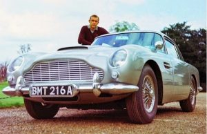 Sean Connery Goldfinger Aston Martin car