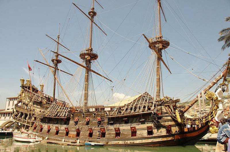 Neptune ship Pirates movie Italy