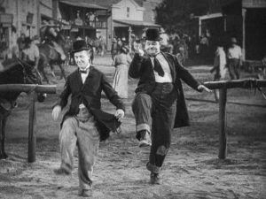 Way Out West Laurel Hardy dancing scene