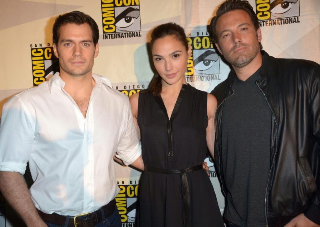 Henry Cavill Gal Gadot Ben Affleck Superman Wonder Woman Batman Comic Con