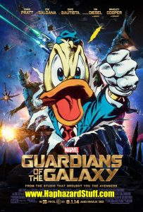 Howard the Duck Cameo Guardians of the Galaxy Poster
