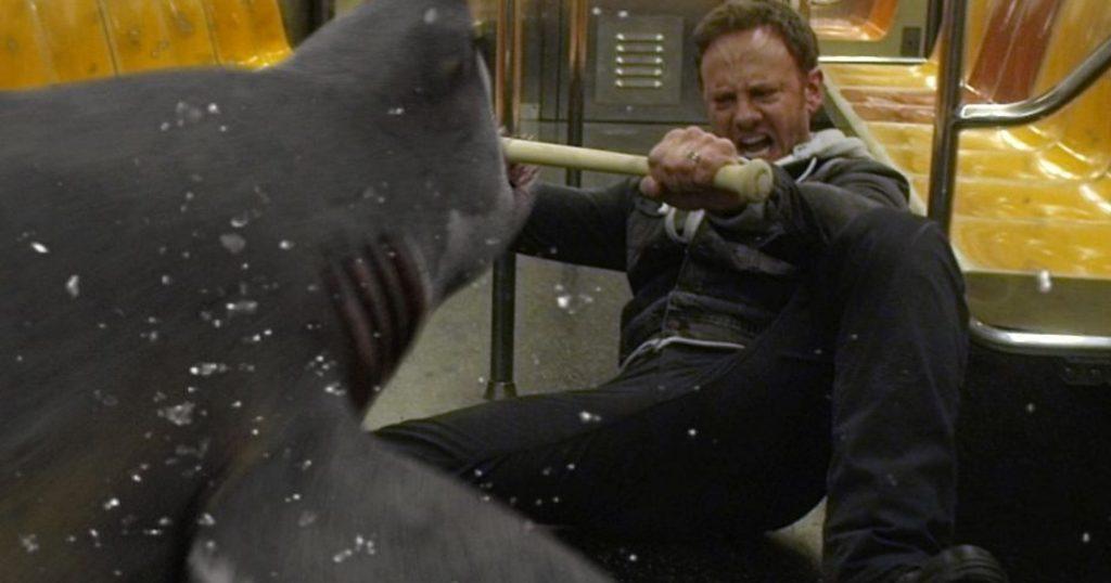 Sharknado 2 Ian Ziering NY subway shark attack