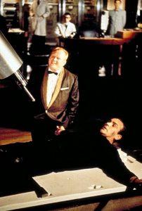 Goldfinger 1964 James Bond Sean Connery laser scene