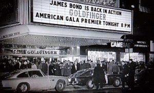 Goldfinger James Bond movie premiere 1964