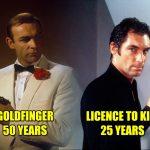 Goldfinger Licence To Kill James Bond Anniversary