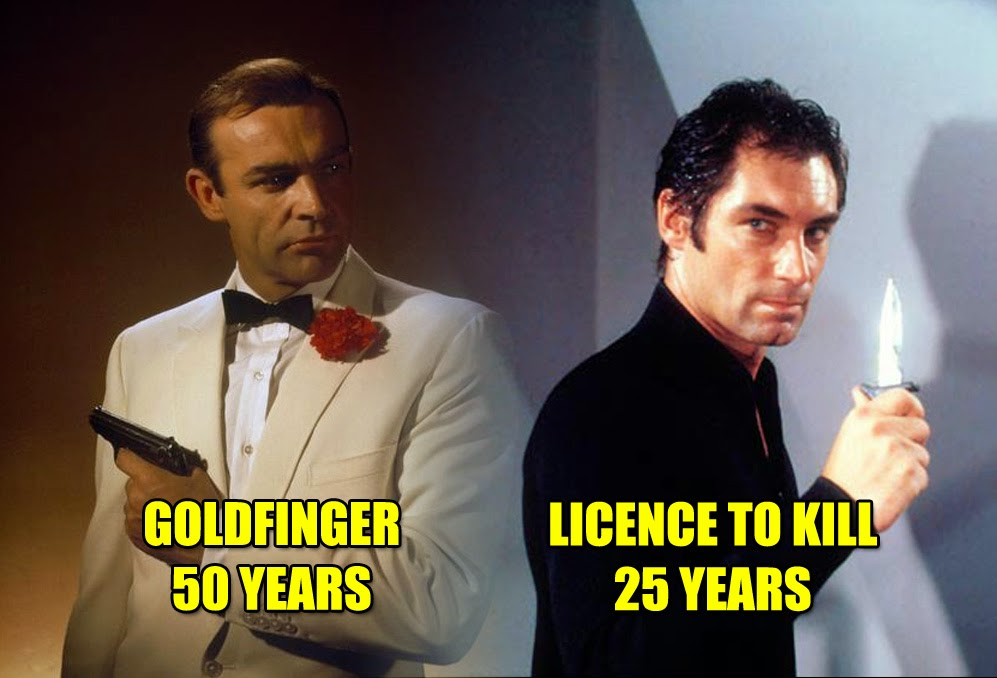 Two Bond Anniversaries – Goldfinger & Licence To Kill