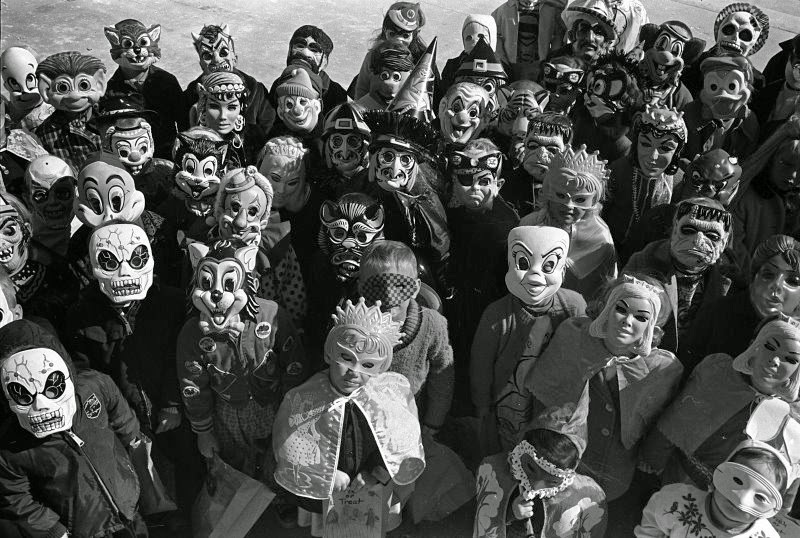 Old time Trick or Treaters retro Halloween