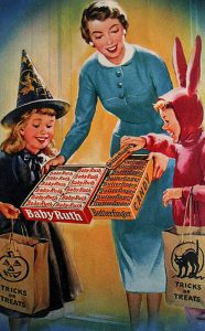 Retro Vintage Halloween Candy ad