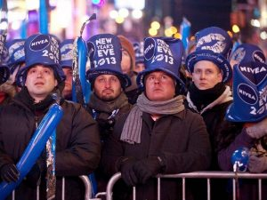 New Years Eve revelers Times Square