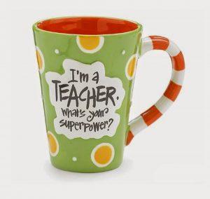 teacher Christmas gift mug