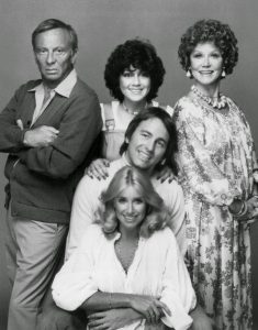 Three's Company tv cast 1977 Ritter DeWitt Somers