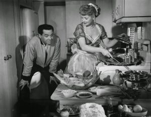 Lucille Ball Long Long Trailer 1953 cooking scene