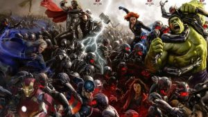 Avengers Age of Ultron battle scene