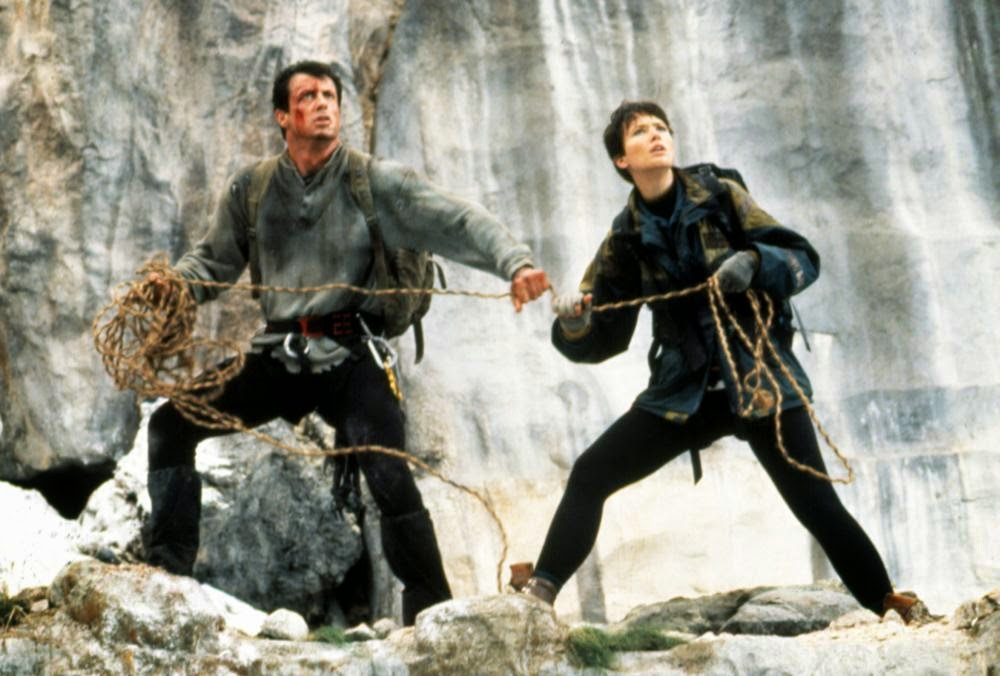 Cliffhanger 1993 Sylvester Stallone Janine Turner mountain climbing action movie