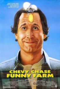 Funny Farm Chevy Chase movie poster 1988