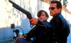Arnold Schwarzenegger Edward Furlong Terminator 2