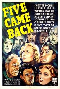 Five Came Back 1939 disaster movie poster