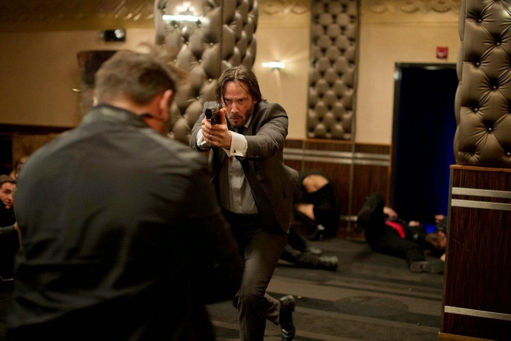 John Wick 2014 Keanu Reeves action scene