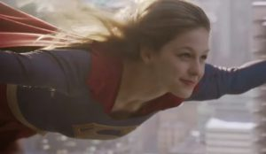 Supergirl Melissa Benoist flying special effects