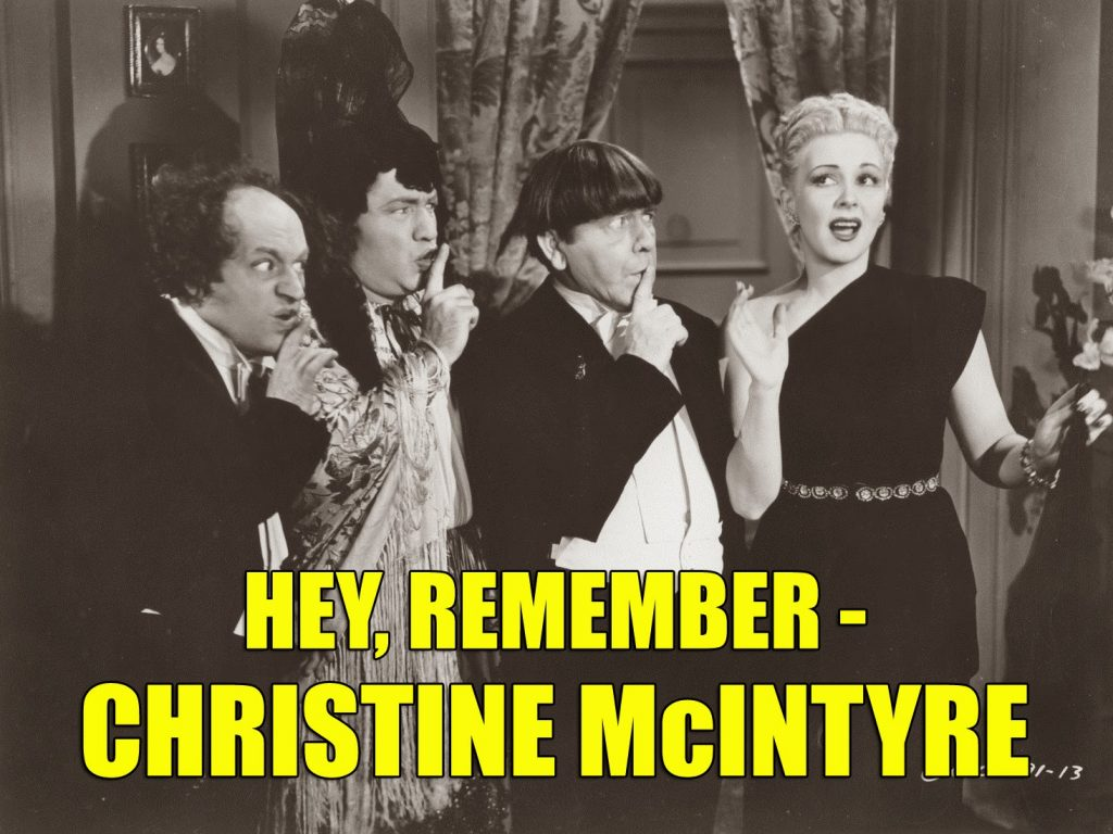 Christine McIntyre Three Stooges Micro-Phonies