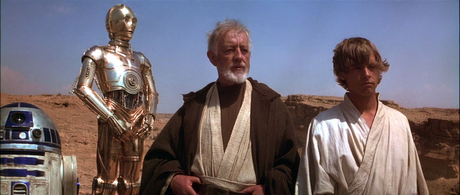 Star Wars Ben Kenobi Luke Skywalker Landspeeder Mos Eisley