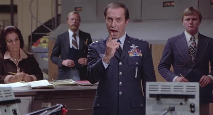 Martin Landau Meteor 1979 funny scene overacting