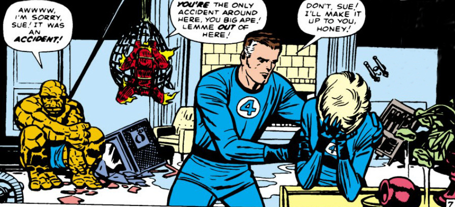 Fantastic Four comic panel movie bomb