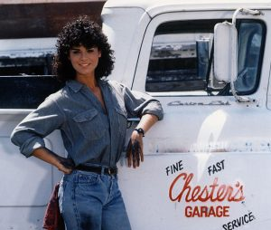 Tomboy 1985 Betsy Russel mechanic publicity photo