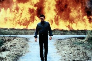 Malone 1987 Burt Reynolds Explosion Walk Action Movie Cliche