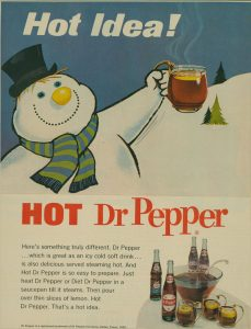Hot Dr Pepper Ad Holiday Drink