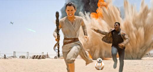Star Wars Force Awakens Rey Finn running