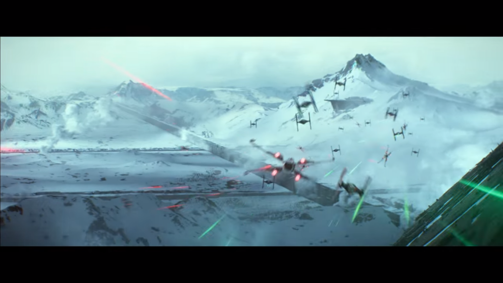 Star Wars The Force Awakens Starkiller battle