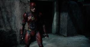 Ezra Miller as Flash costume Justice League trailer