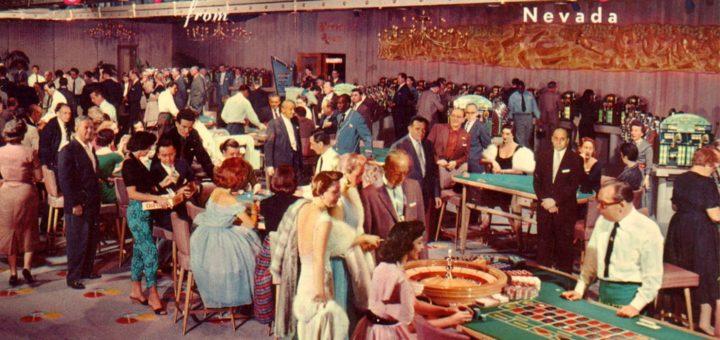 vintage postcard Las Vegas 1960s