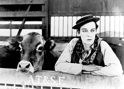 Buster Keaton Go West 1925 silent comedy