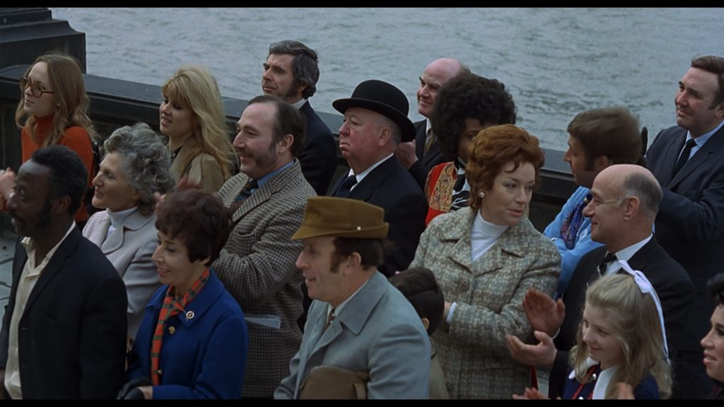 Alfred Hitchcock cameo Frenzy 1972