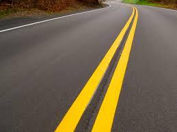 Highway road lines