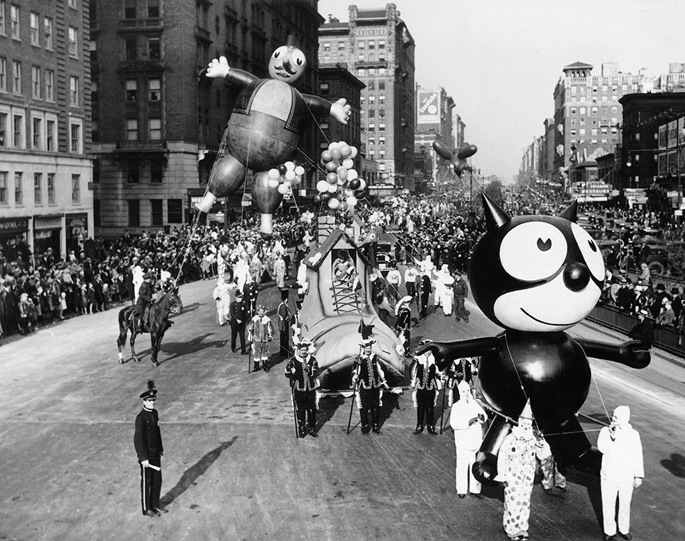 Macy's Day Parade Thanksgiving old retro balloon