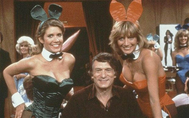 Carrie Fisher Playboy Hugh Hefner Laverne Shirley