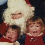 Creepy Santa Scared Kids