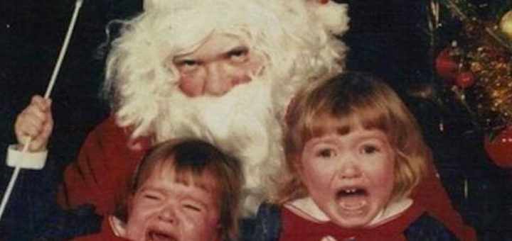 Creepy Santa Scared Kids