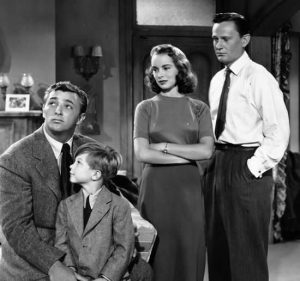 Holiday Affair 1949 cast Robert Mitchum Janet Leigh Wendell Corey Gordon Gebert