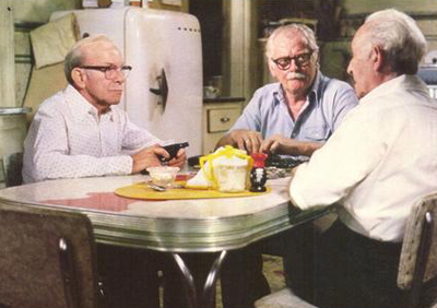 George Burns Art Carney Lee Strasberg Going in Style 1979